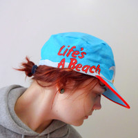 Vintage Snoopy Life's A Beach Surfer Hat 1980s