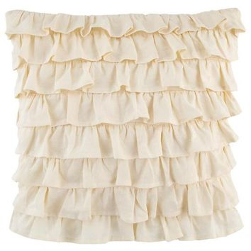 French Ruffle Throw Pillow