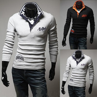 New York Long Sleeve Men's Polo Shirt