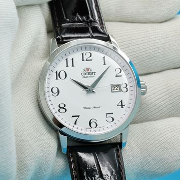 ORIENT Symphony Classic Automatic Watch White Dial 41mm FER27008W