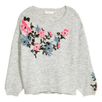 H&M Knit Sweater with Embroidery $49.99
