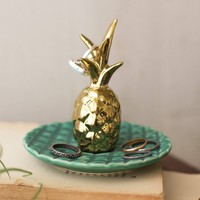 Ceramic Pineapple Ring Holder