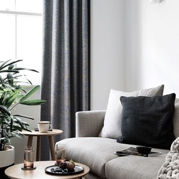 Blackout Drapes with Blue Gray