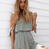 Spaghetti Strap Sexy Knit Backless Jumpsuit