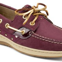 Sperry Top-Sider Bluefish Metallic Dot 2-Eye Boat Shoe Wine/Gold, Size 8.5M  Women's Shoes
