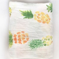 Pineapple Print Muslin Cotton Swaddling Blanket
