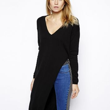 ASOS Jumper With Side Split