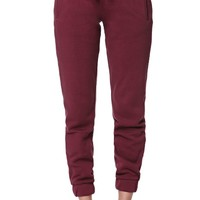 LA Hearts Fleece Fig Jogger Pants - Womens Pants - Red