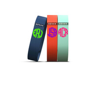 Fitbit Decal - Fitbit Flex Decal - Athletic Wristband Decal - Vinyl Decal - Wristband Decal - Monogram - Monogrammed - Many Colors & Sizes!