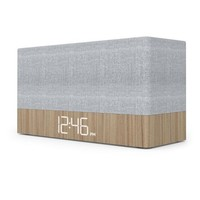Capello® Ci320 Simple Stack Bluetooth Speaker with Clock - Wood