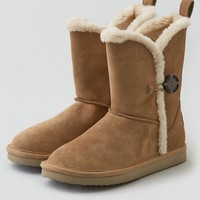 AEO Women's Buttoned Soft Leather Boot