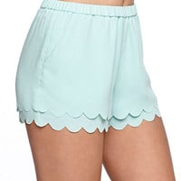 Kendall and Kylie High Rise Scallop Shorts at PacSun.com