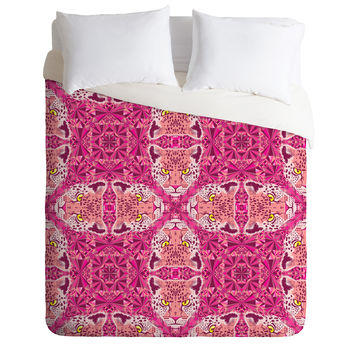 Chobopop Pink Panther Pattern Duvet Cover