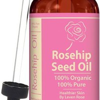 Leven Rose Organic Unrefined Rosehip Oil for Healthier Hair and Softer Skin, 1 fl. oz.