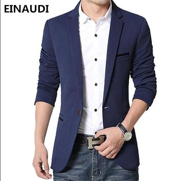 EINAUDI 2017 male blazer casual masculine jacket men's corduroy suit men man suit thick coat blazer men suit ternos masculinos