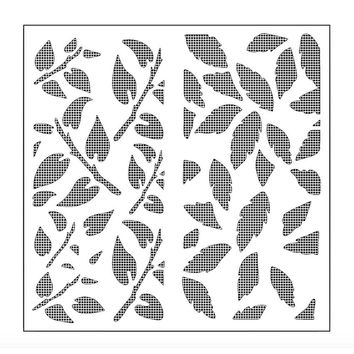 Leaves Tree Branch Reusable Stencil Airbrush Painting Art Cake Spray Mold DIY Decor Crafts