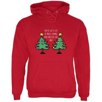 LMFON Christmas Tree You've Got a Lot of Balls Funny Mens Hoodie