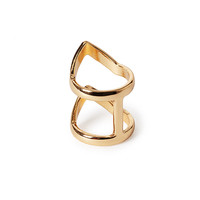 Chevron Cutout Ring