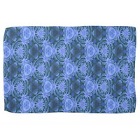 blue green flowery pattern Kitchen Towel