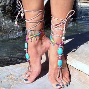 Aphrodite The Goddess Of Love And Beauty / Barefoot Sandals By Iris (Small/Indie Brands)