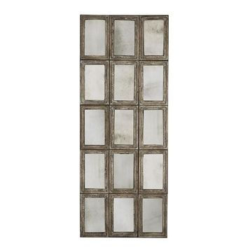 15 Panel Rustic Barnwood Mirror design by Aidan Gray – BURKE DECOR