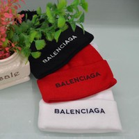 Balenciaga Fashion Embroidery Knit Hat Warm Woolen Hat
