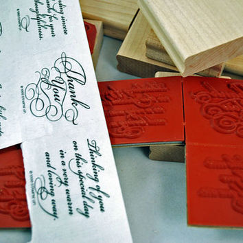 """STAMPIN UP Stamp Set  - 1999 Rubber Stamps Never Used - Retired Mint Condition """"Elegant Greetings"""" - 8 piece Unmounted  Rubber Stamp Set"""