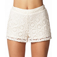Crocheted Daisy Shorts