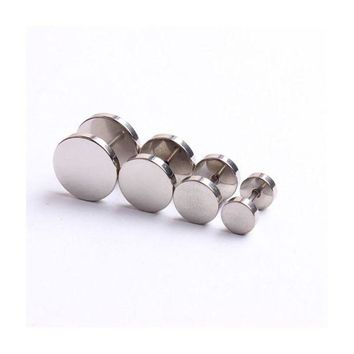 ac DCCKO2Q 3 Colors For Choose Cheater Ear Plugs Illusion Fake Plugs Tunnels Taper 2pcs/lot for Stainless Steel Man Ear Stud C30