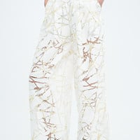 Solace Daruma Devore Trousers in Ivory - Urban Outfitters