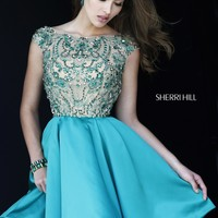 Sherri Hill 32273 Jeweled Satin Cocktail Dress