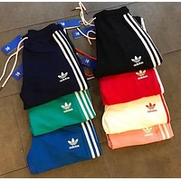x1love :Adidas Fashion Casual Stripe Drawstring Sport Running Pants Trousers Sweatpants