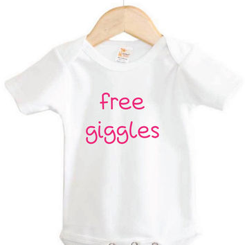 Infant Apparel // Free Giggles Onesuit // Baby Clothing // newborn clothing