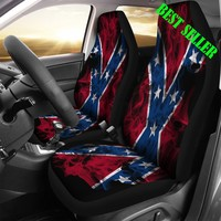Confederate Flag Seat Covers Rebel