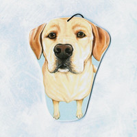 Yellow Labrador Retriever Ornament - Yellow Labrador Art - Yellow Labs - Pet Portrait - Dog Breed Art - Christmas Ornament - Weeze Mace
