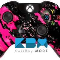 Pink Splatter Xbox One Controller