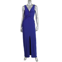Lauren Ralph Lauren Womens Matte Jersey Prom Evening Dress