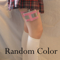 Random Color   WITH Flask   Fun gift  Great for by GartersByLori