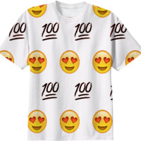 White/Emoji T-Shirt created by trilogy-anonymous | Print All Over Me