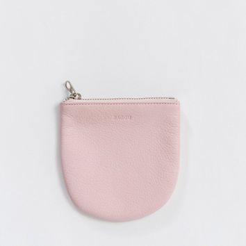 BAGGU Leather Small U Pouch Powder Pink - Omoi Zakka Shop