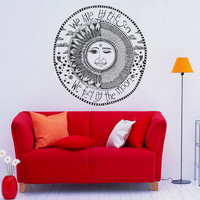 Wall Decals Vinyl Sticker Sun Moon Crescent Dual Ethnic Symbol We Live By The Sun We Feel By The Moon Art Home Decor Bedroom Dorm C056