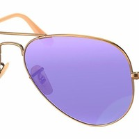 New Authentic Ray-Ban Aviator Sunglasses RB 3025 167/68 55mm Bronze Blue Mirror
