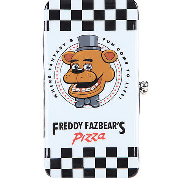 Five Nights At Freddy's Freddy Fazbear's Pizza Kisslock Hinge Wallet
