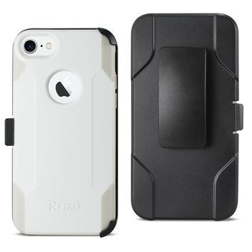 iPhone 8 3-In-1 Hybrid Heavy Duty Holster Combo Case (Ivory)