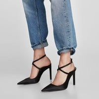 SLINGBACK HIGH HEEL SHOES DETAILS