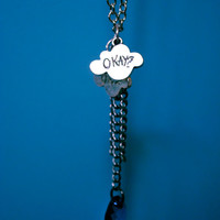 The Fault In Our Stars Okay Cloud Necklace  by GeekyCauldrons