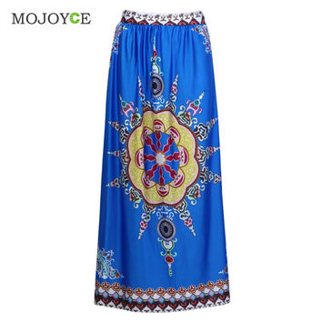 Fashion African Clothing Dashiki Long Skirt Traditional Clothes Wax Print Skirts Womens Vintage Comfortable Women Skirt SN9