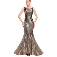 Mermaid Bridesmaid Dresses Long Dress for Weddings Party Gown Grey Blue Black Sequin Bridesmaid Dress