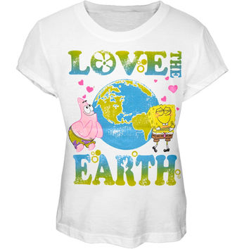Spongebob Squarepants - Love The Earth Girls Youth T-Shirt