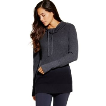 CALIA by Carrie Underwood Women's Effortless Dip Dye Hooded Sweater